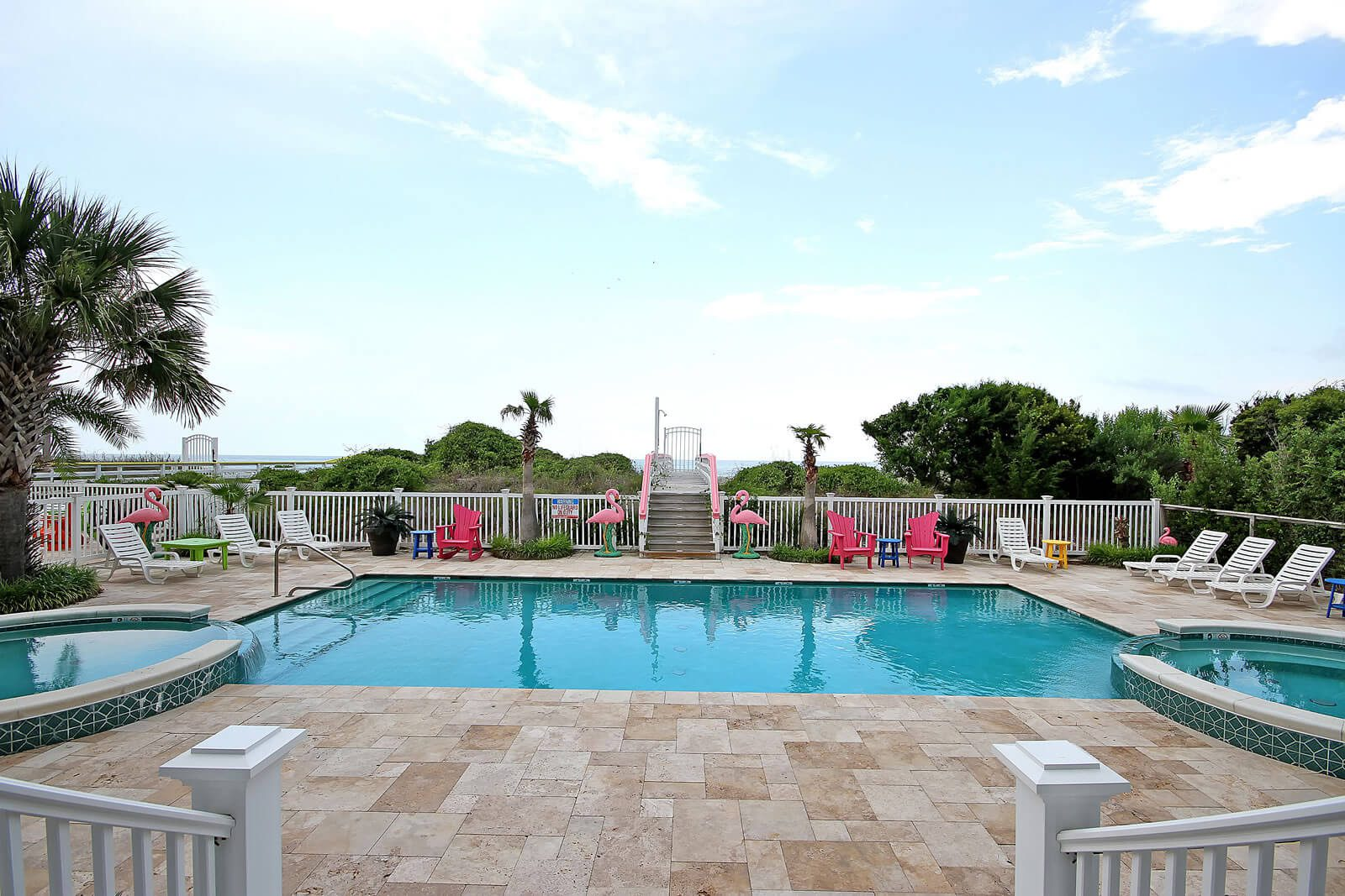 Casa Flamingo Private Pool with an Ocean View - Isle of Palms, SC