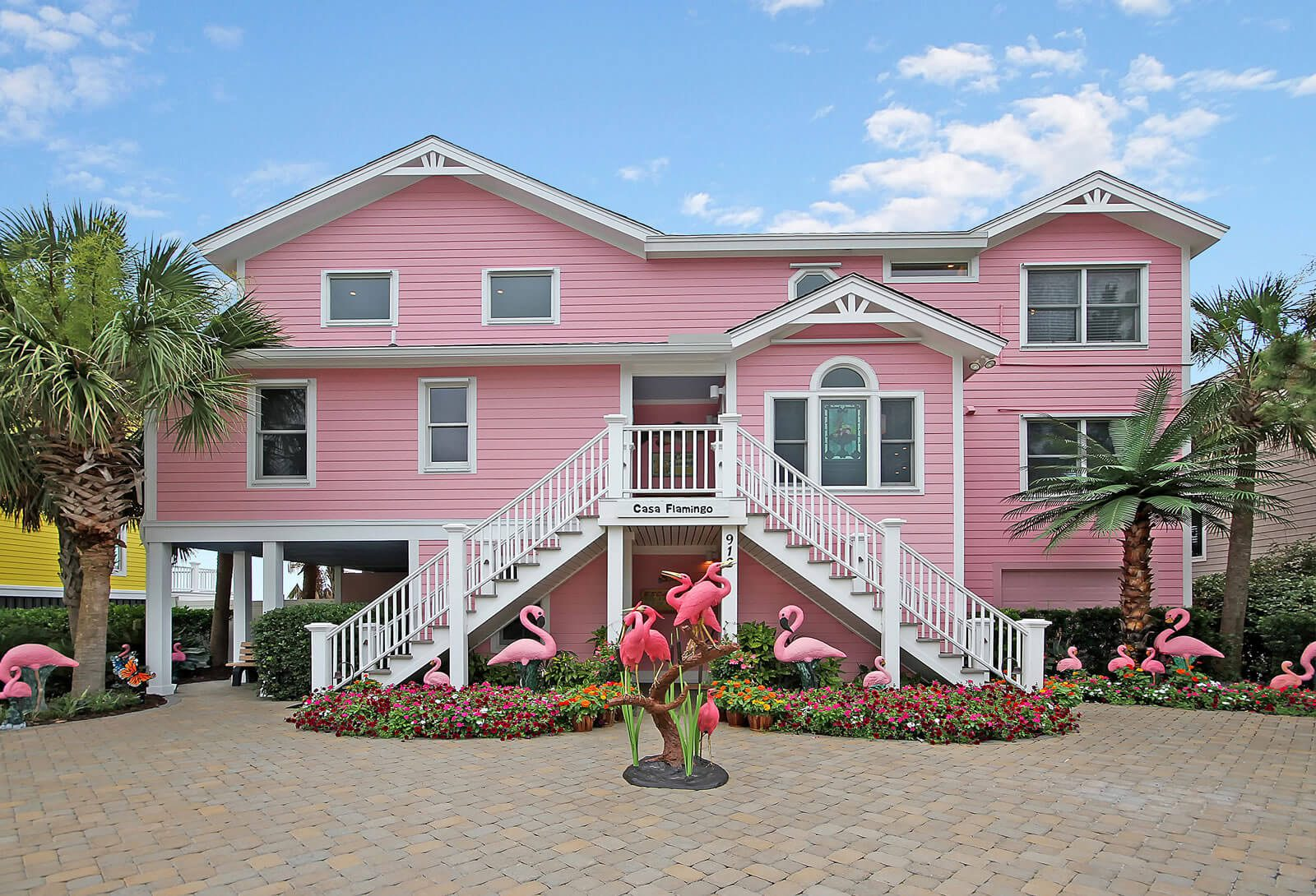 Casa Flamingo Front of Home - Isle of Palms, SC